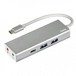"""Hama USB 3.1 TYPE-C HUB (2 USB, 1 USB TYPE-C) +3,5"""" AUDIO"""
