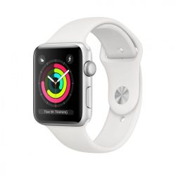 Apple Watch Series 3 42mm Silver Aluminium Case with White Sport Band
