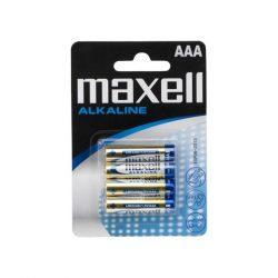 Maxell  alkáli micro ceruza elem (AAA)  4db/csomag