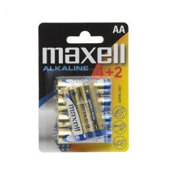 Maxell alkáli ceruza elem (AA)  4+2db/csomag