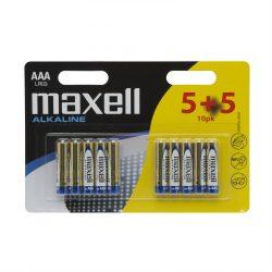 Maxell alkáli ceruza elem (AAA)  5+5db/csomag