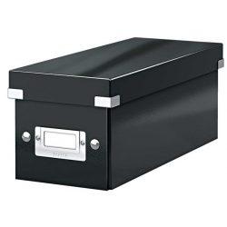 """CD tároló doboz, lakkfényű, LEITZ """"Click&Store"""", fekete"""
