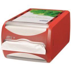 """Szalvéta adagoló, 145x191x307 mm, asztalra helyezhető, N4 rendszer, Signature line, TORK """"Xpressnap®"""", vörös"""