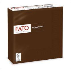 """Szalvéta, 1/4 hajtogatott, 33x33 cm, FATO """"Smart Table"""", csokoládé barna"""