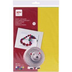 Hullámkarton papír, 297x210 mm, 10 ív, APLI, vegyes színek
