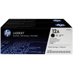 Q2612AD Lézertoner LaserJet 1010, 1015, 1018 nyomtatókhoz, HP 12A, fekete, 2*2k
